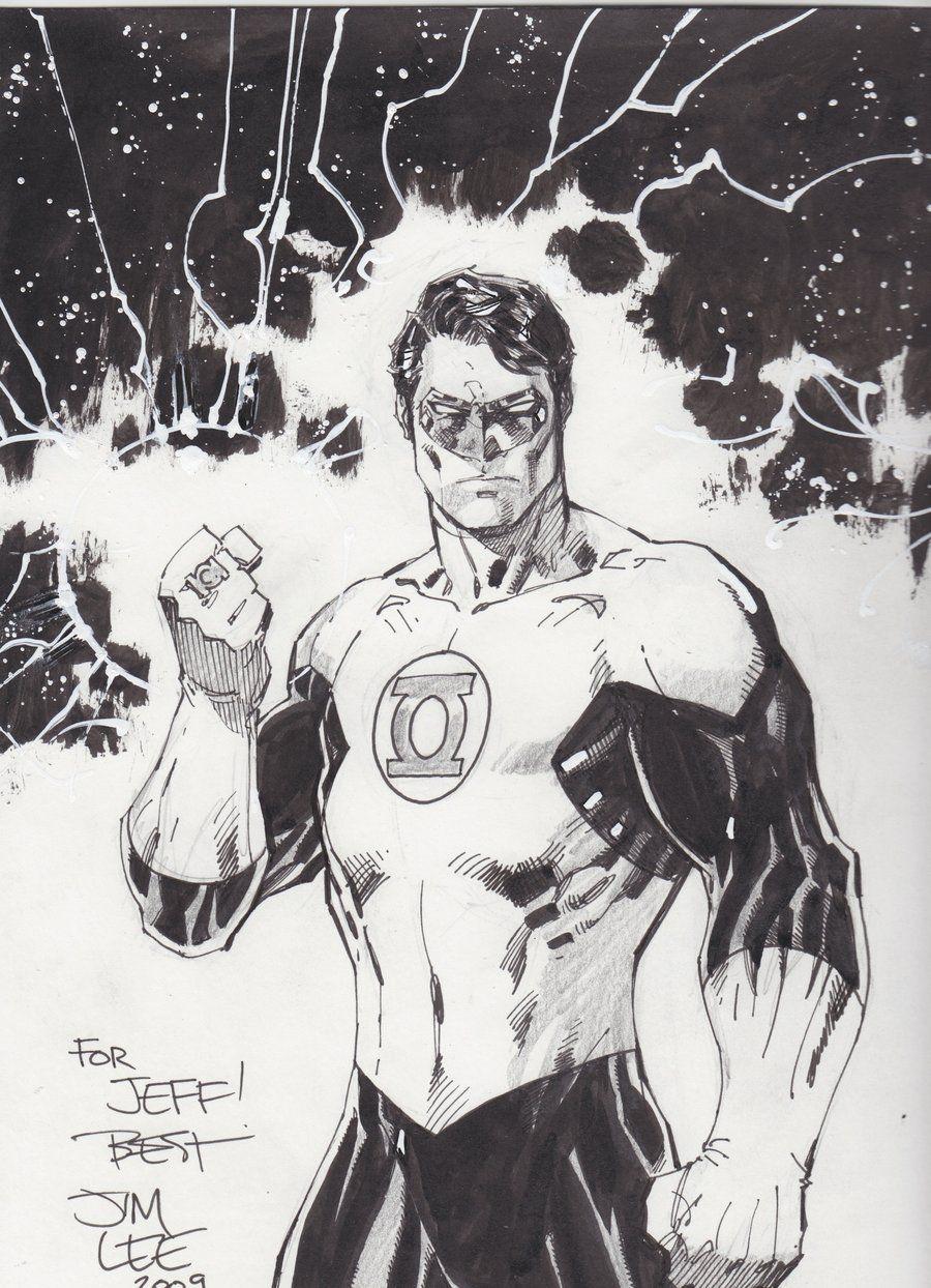 Green Lantern Hal Jordan by jim lee | Desenhos & Referências ...