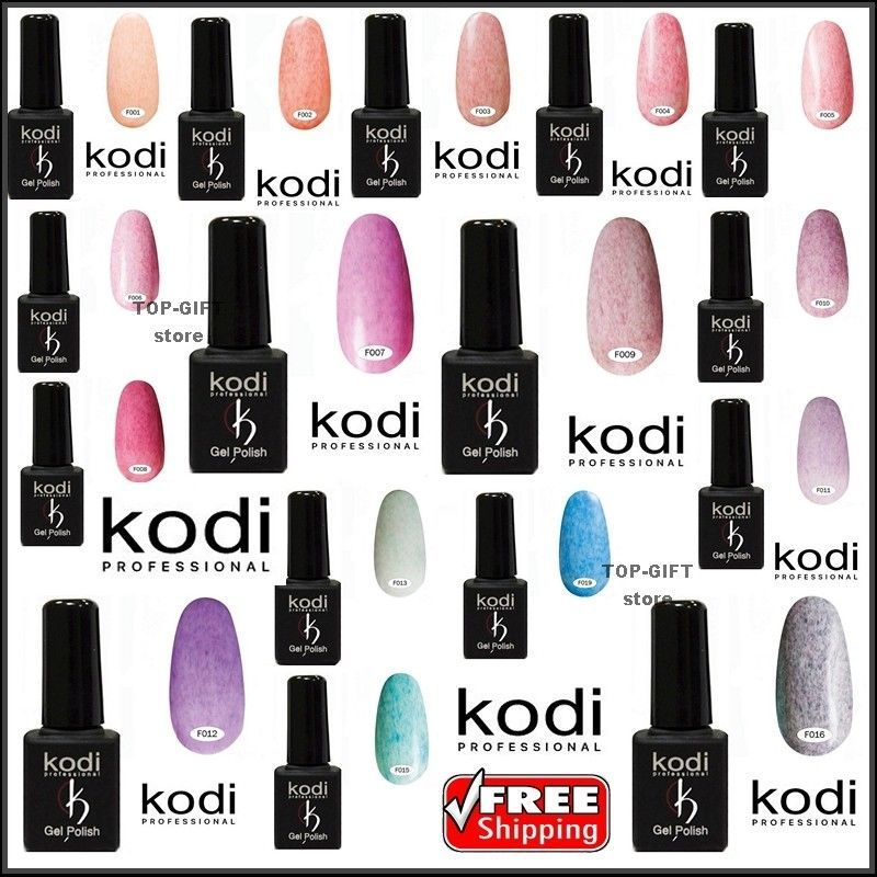 KODI PROFESSIONAL Gel LED/UV Polish Color FELT Series 8 ml. FREE ...