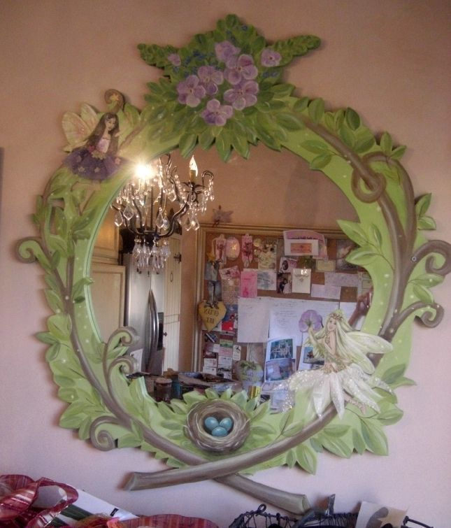 fairy room custom fairy mirror interior mural idea