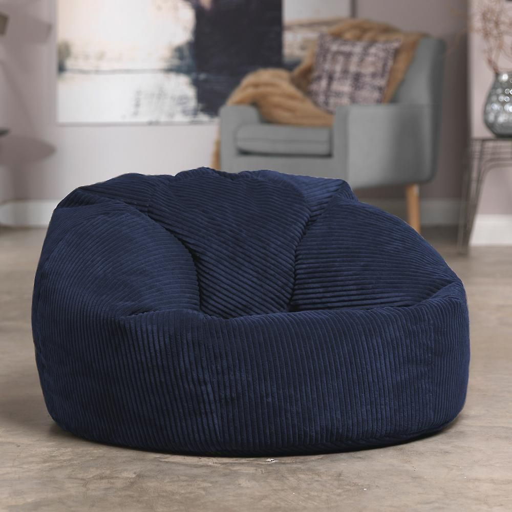 Marvelous Icon Soul Classic Cord Bean Bag Chair Navy Blue 84Cm X Onthecornerstone Fun Painted Chair Ideas Images Onthecornerstoneorg