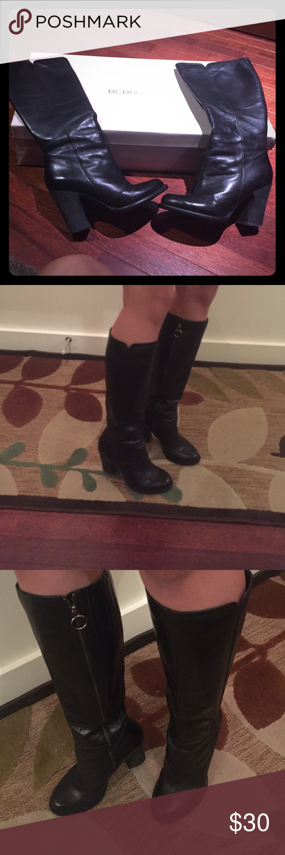 BCBGeneration Doris knee high boots Used, but still in fair condition. Original box included. Looks like it is still being sold on Amazon:  https://www.amazon.com/BCBGeneration-Womens-Doris-Knee-High/dp/B002DW93OM BCBGeneration Shoes Heeled Boots