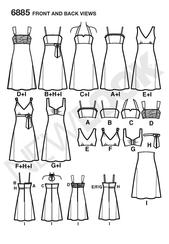 New Look 6885 Misses Dresses OOP printable
