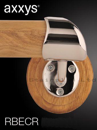 Best Right Hand Chrome Handrail End Bracket Handrail Oak 400 x 300