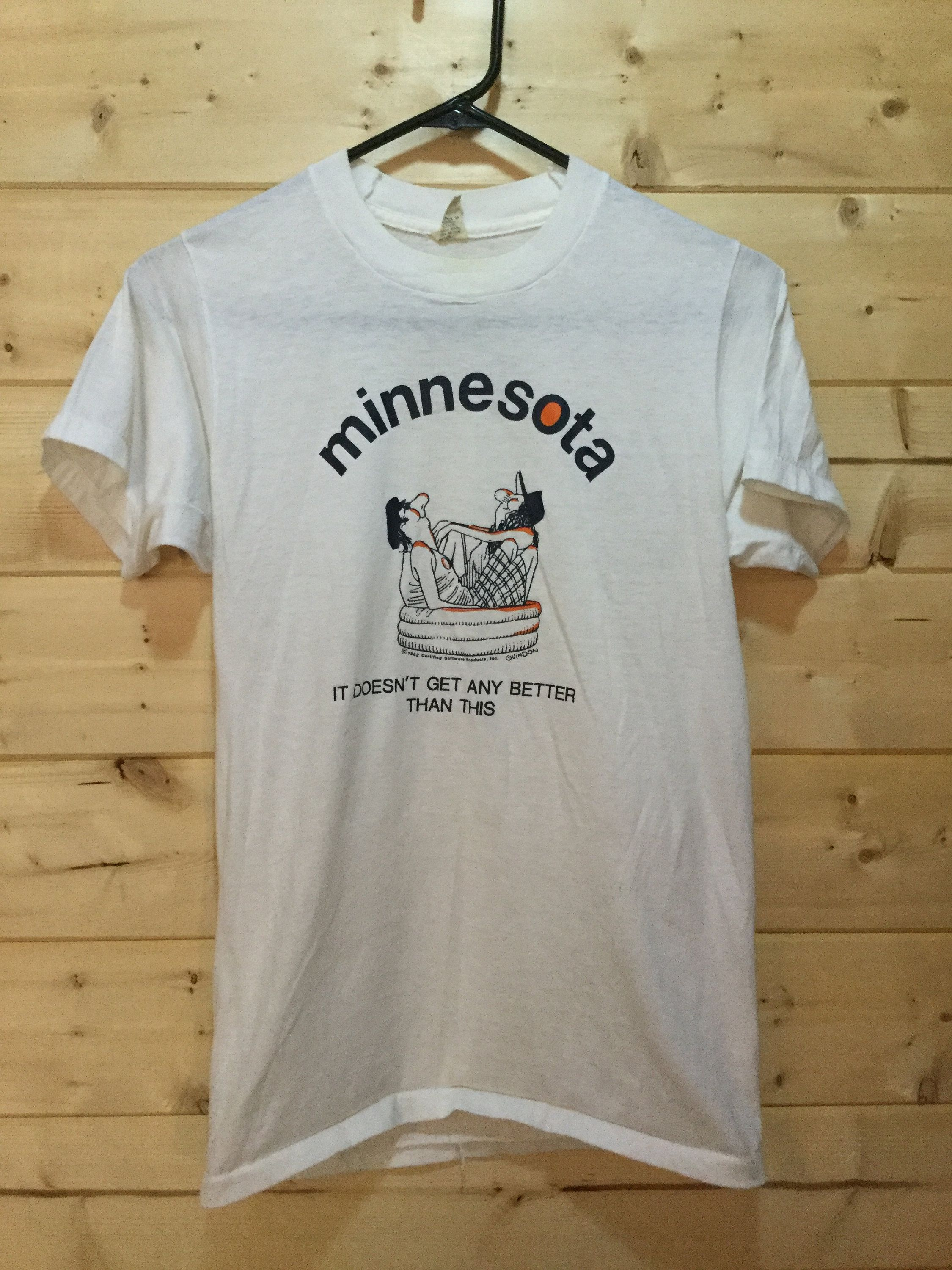 96959feff93 Vintage 1980 s Minnesota 50 50 Cartoon Shirt by 413productions on Etsy
