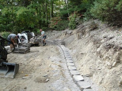 Retaining Wall Time Lapse Construction