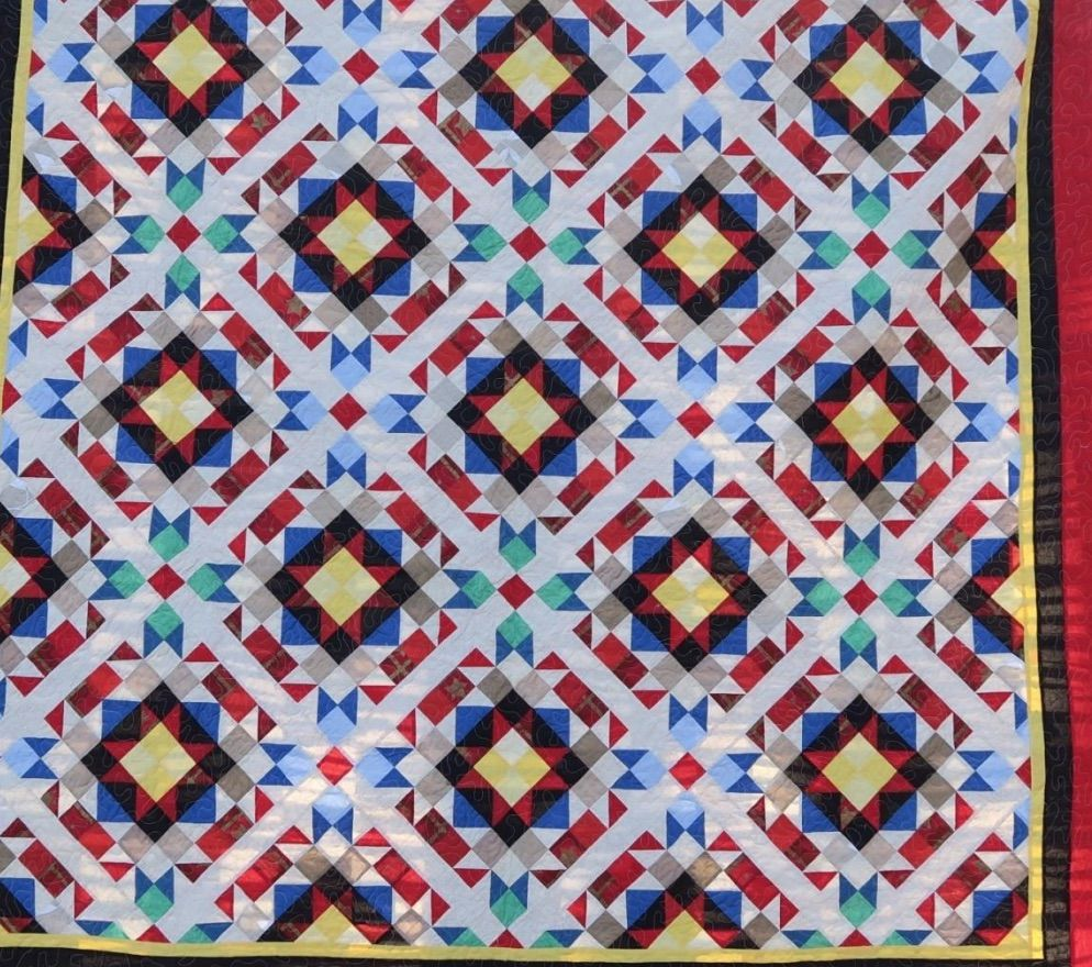 """Another in Becky's Upcycled series.The quilt finishes at approximately 91""""x91"""" before ..."""