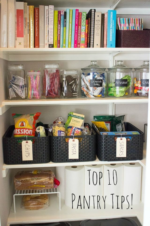 10 Simple Steps To Organizing Your Pantry Rangement Organisation