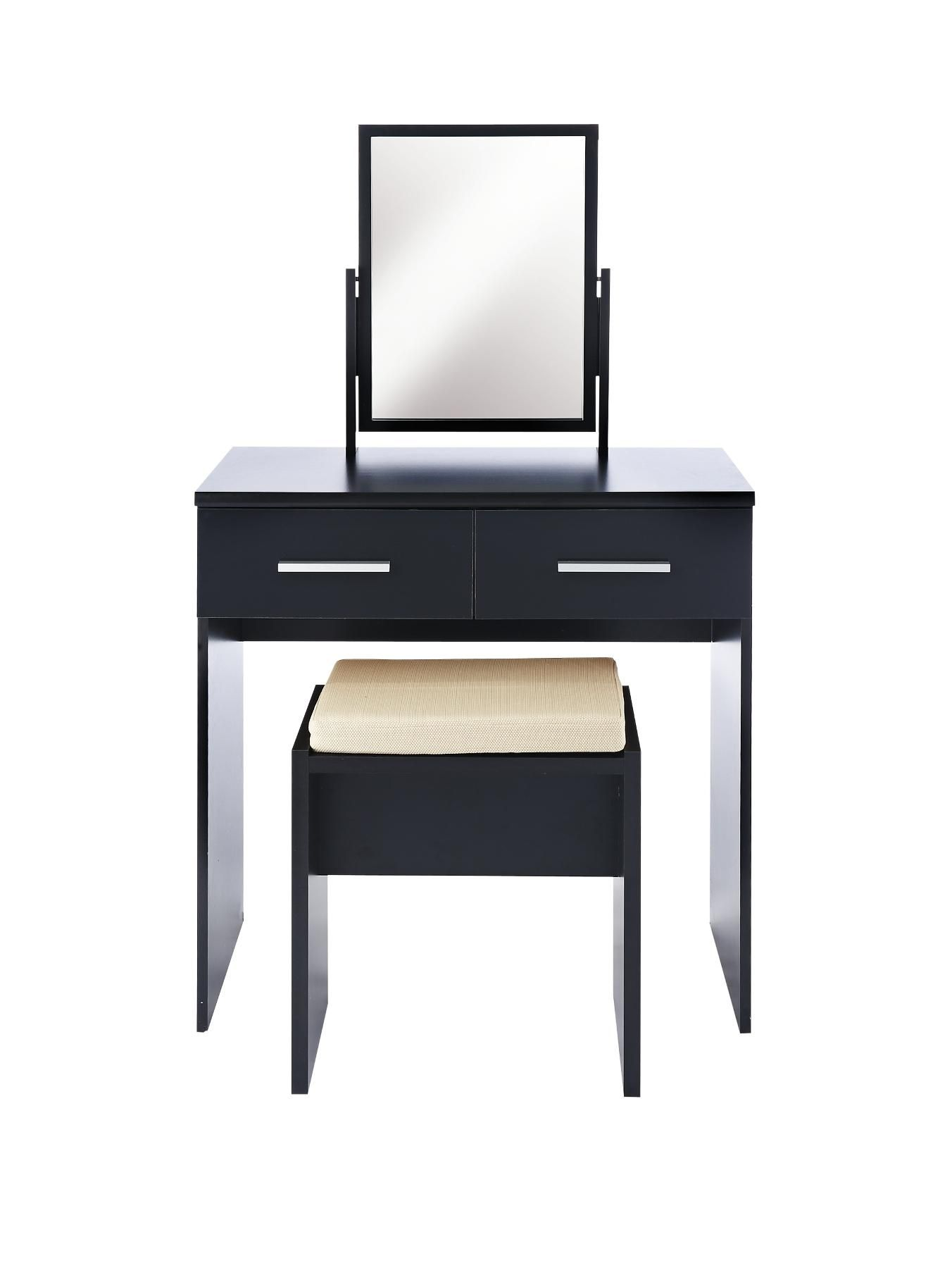 Prague Gloss Dressing Table, Stool and Mirror Set | Mirror set ...