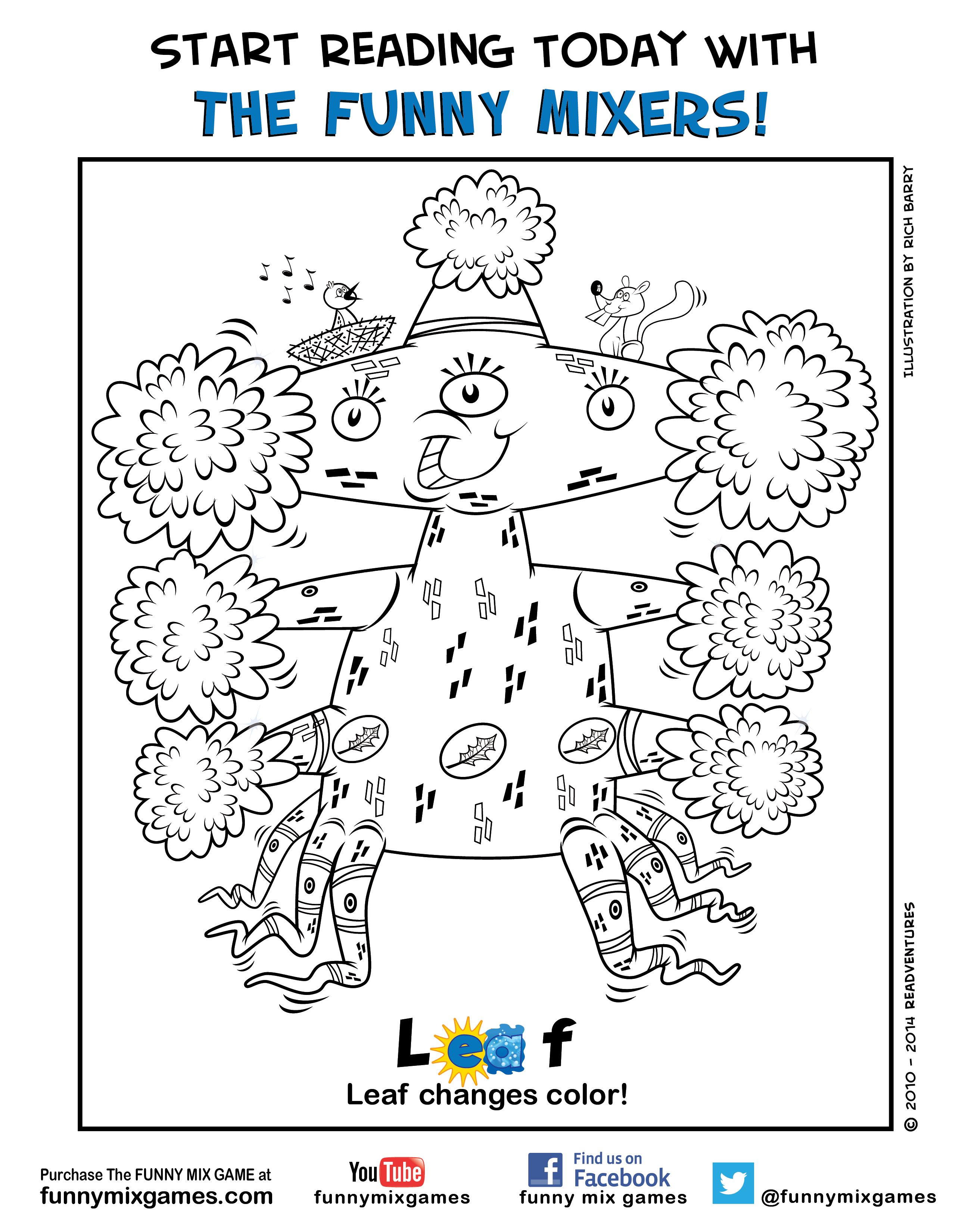 Coloring interactive games - Childrens Interactive Coloring Pages Funny Mix Game Coloring Page Character Leaf Please Share Your Children