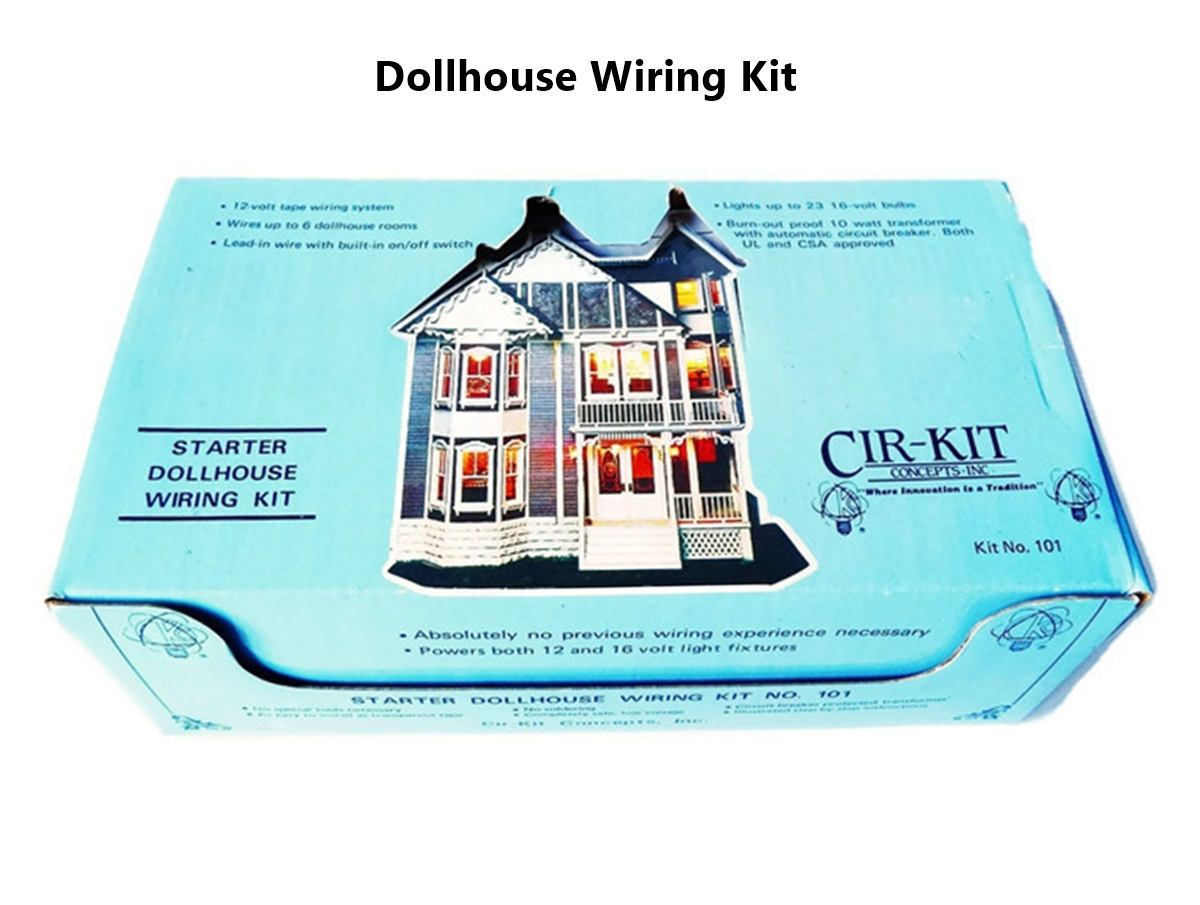 Awesome Cir Kit Starter Dollhouse Wiring Kit Electricity Diy Set For 5 6 Wiring Digital Resources Millslowmaporg