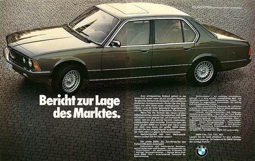 Reklame Bmw 735i E23 1980 Bmw Vintage Sports Sedan Bmw