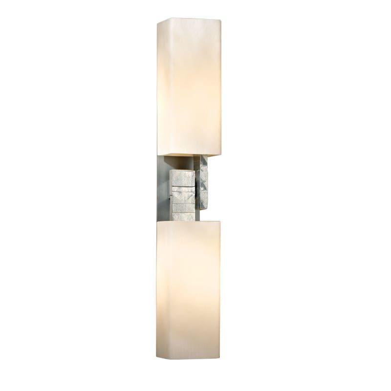 Photo of Hubbardton Forge 207801-SKT Ondrian 2 Light 20″ Tall Bathroom Sconce Vintage Platinum / Pearl Indoor Lighting Bathroom Fixtures Bathroom Sconce