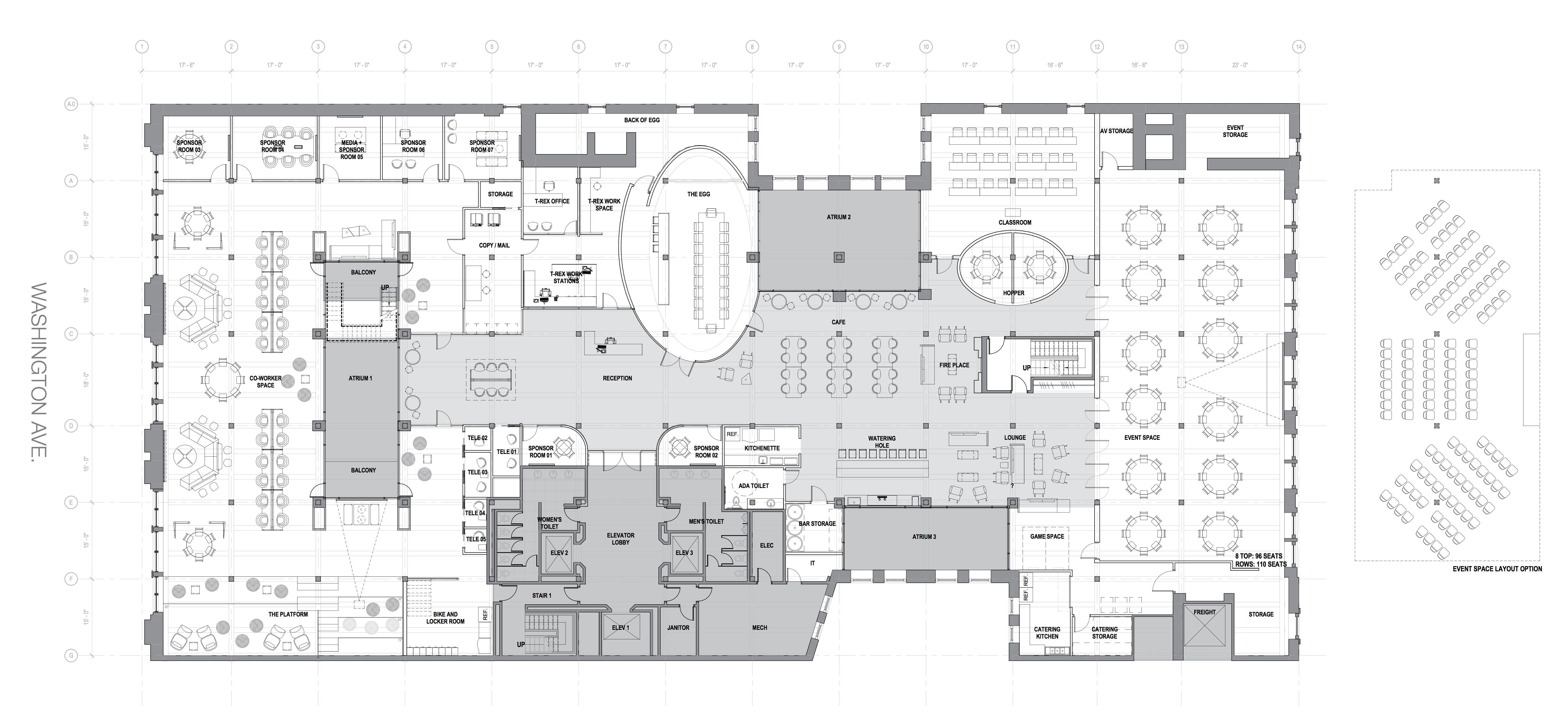 room organizer floor plan: amazing co working space floor ...