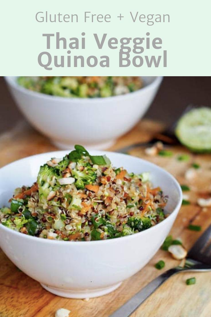 Thai Veggie Quinoa Bowls Gluten Free Vegan