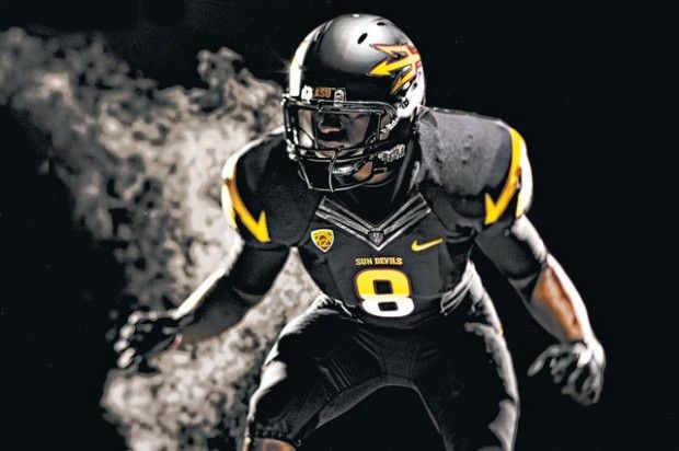 Asu S New Look Includes Pitchfork Black Uniforms Asu Football