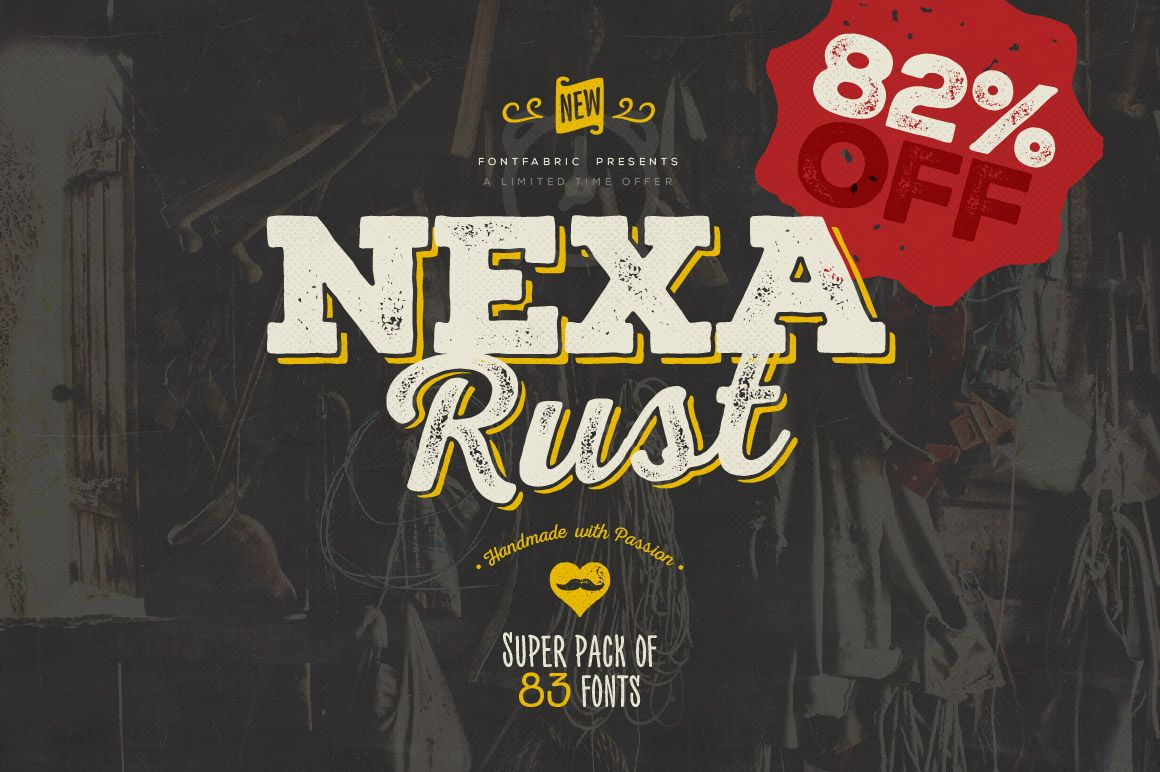 Download Nexa Rust Font Pack   Commercial fonts, Best free fonts ...