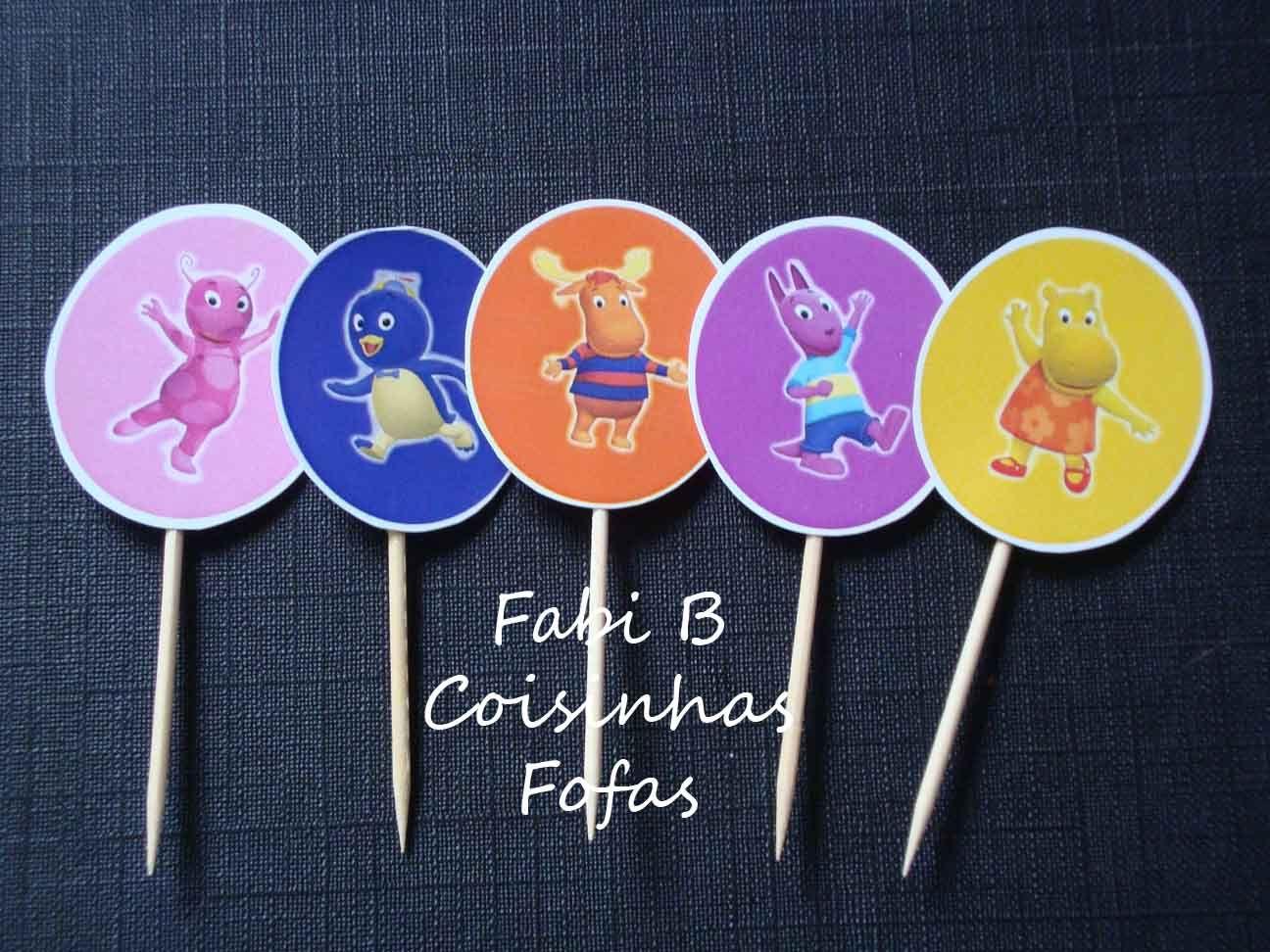 Backyardigans cupcake topper | fabi_b: Convite Backyardigans + Toppers de Cupcake Backyardigans