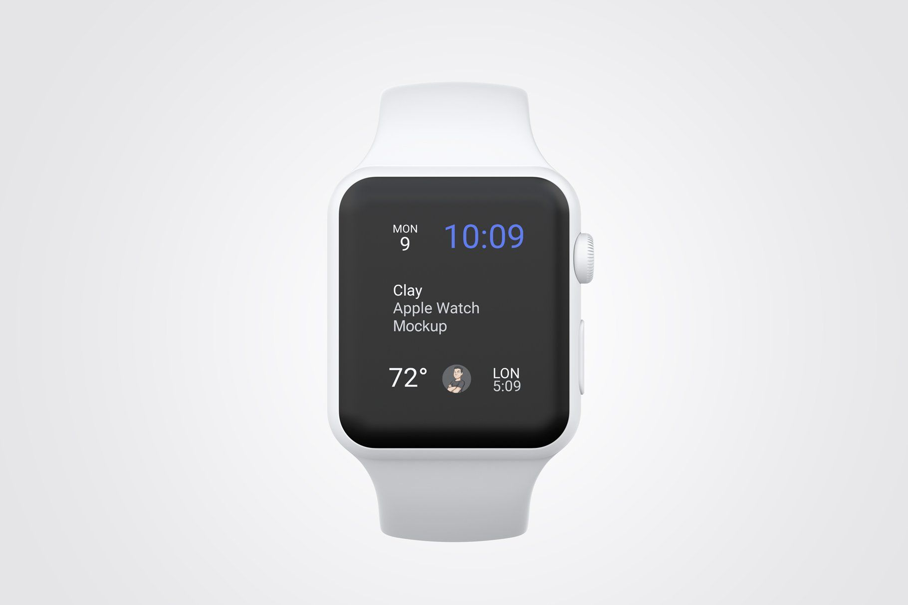 Clay Apple Watch Mockup 04 Business Card Design Minimalist Apple Watch Web App Design