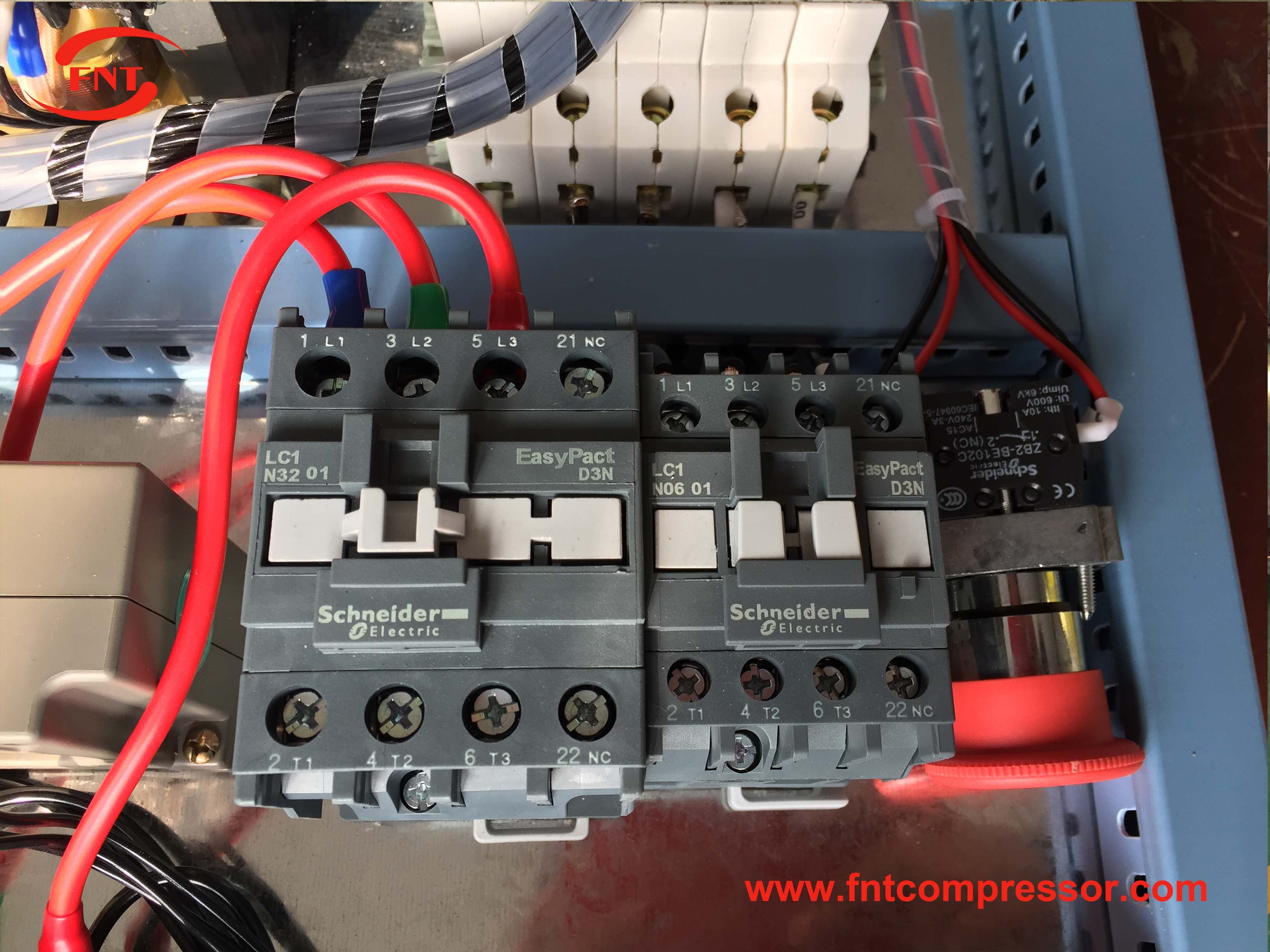 Electric part for screw air compressor is Schneider from
