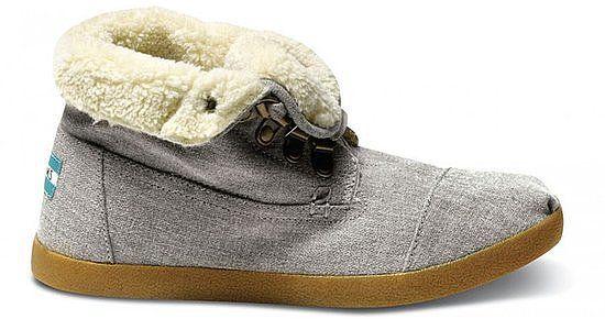 edf93e0cd2c Shearling Furry Boot  TOMS Grey hemp women s highlands botas ( 84) size 8