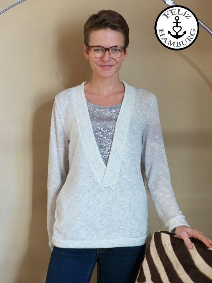 Schnittmuster / Ebook lillesol women No.24 Shirt mit V-Ausschnitt ...