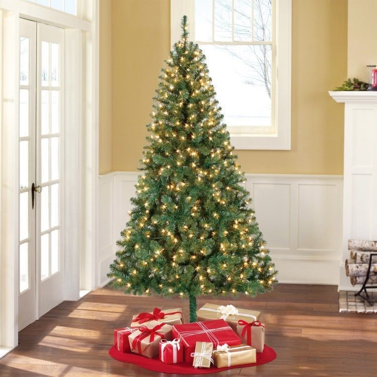 Artificial Christmas Tree Green Pre Lit With Stand 6 5 Foot Holiday Xmas Season Devinebestbuys Pre Lit Christmas Tree Artificial Christmas Tree