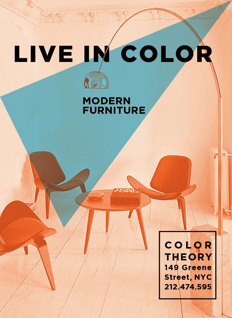 Color TheoryWild Poster Series for Modern Furniture Store ...