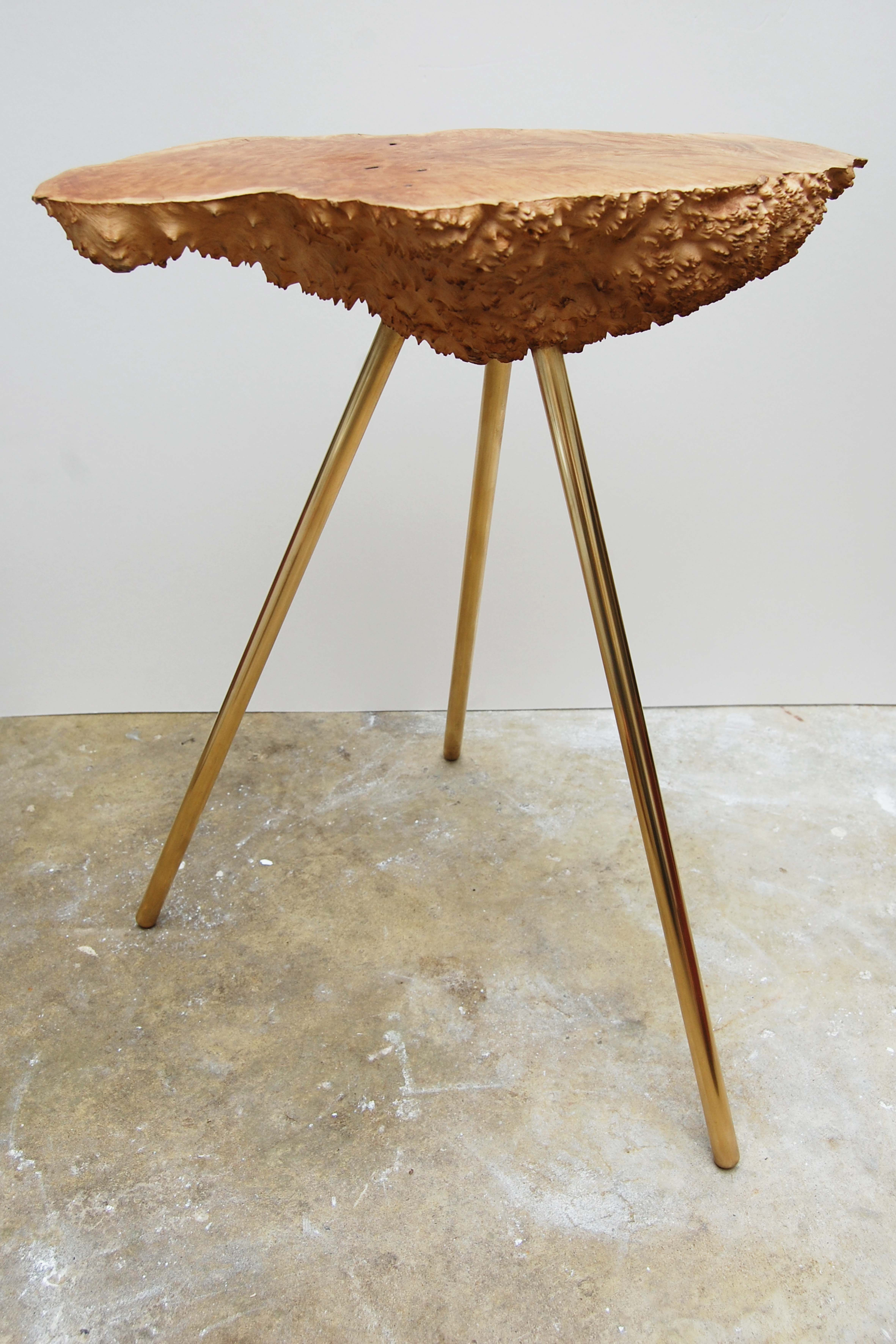 Piers Saxby Candy Studio   Small Burr Wood Table