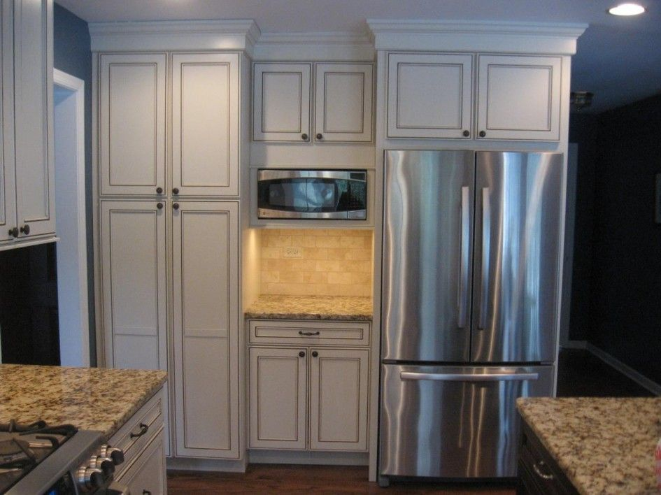 Pantry Accessories Incomparable Kitchen Pantry Cabinet Built In With  Stainless Steel French Door Counter Depth Refrigerator And Small Under  Cabinet ...