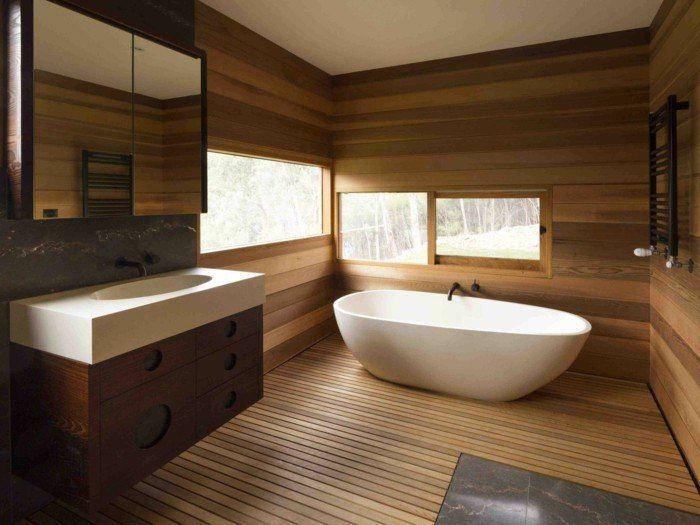 20 Bathrooms With Wood Wall Designs Wood Wall Bathroom Wooden Wall Panels Bathroom Design