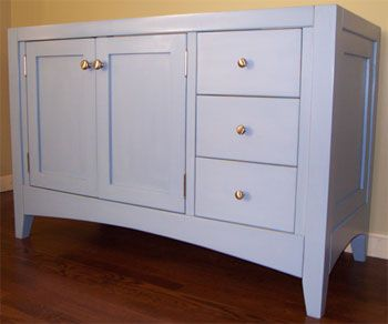 Create Photo Gallery For Website Shaker Style Vanity with Heavy Legs and Arched Base Rails