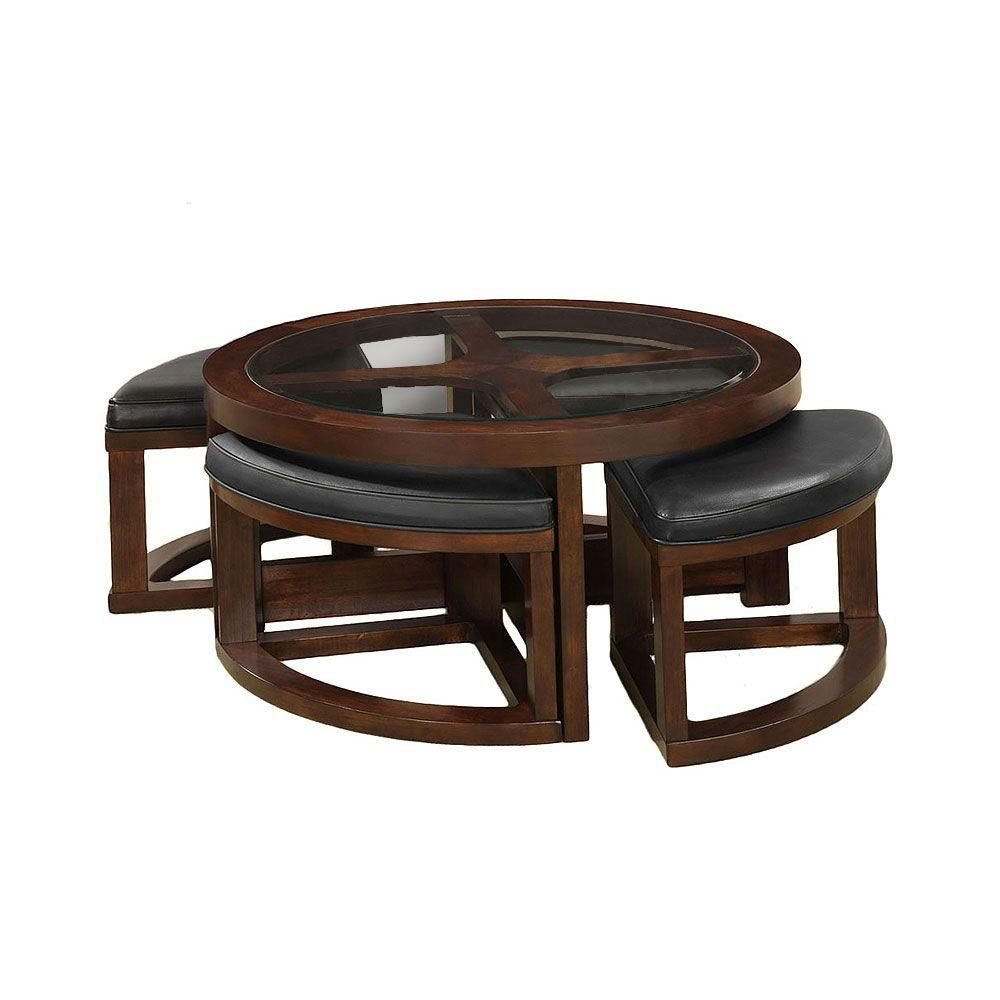 Crystal Cove II Dark Walnut Coffee Table