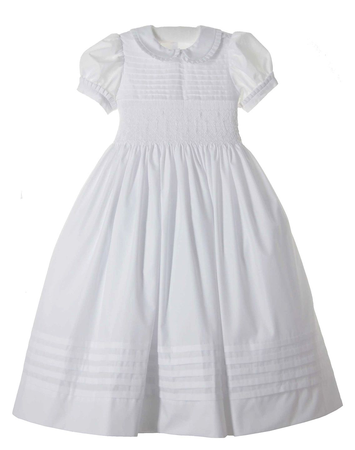 07ef8fa6ca0 NEW Marco   Lizzy White Cotton Batiste Smocked Dress with Pleated Trim