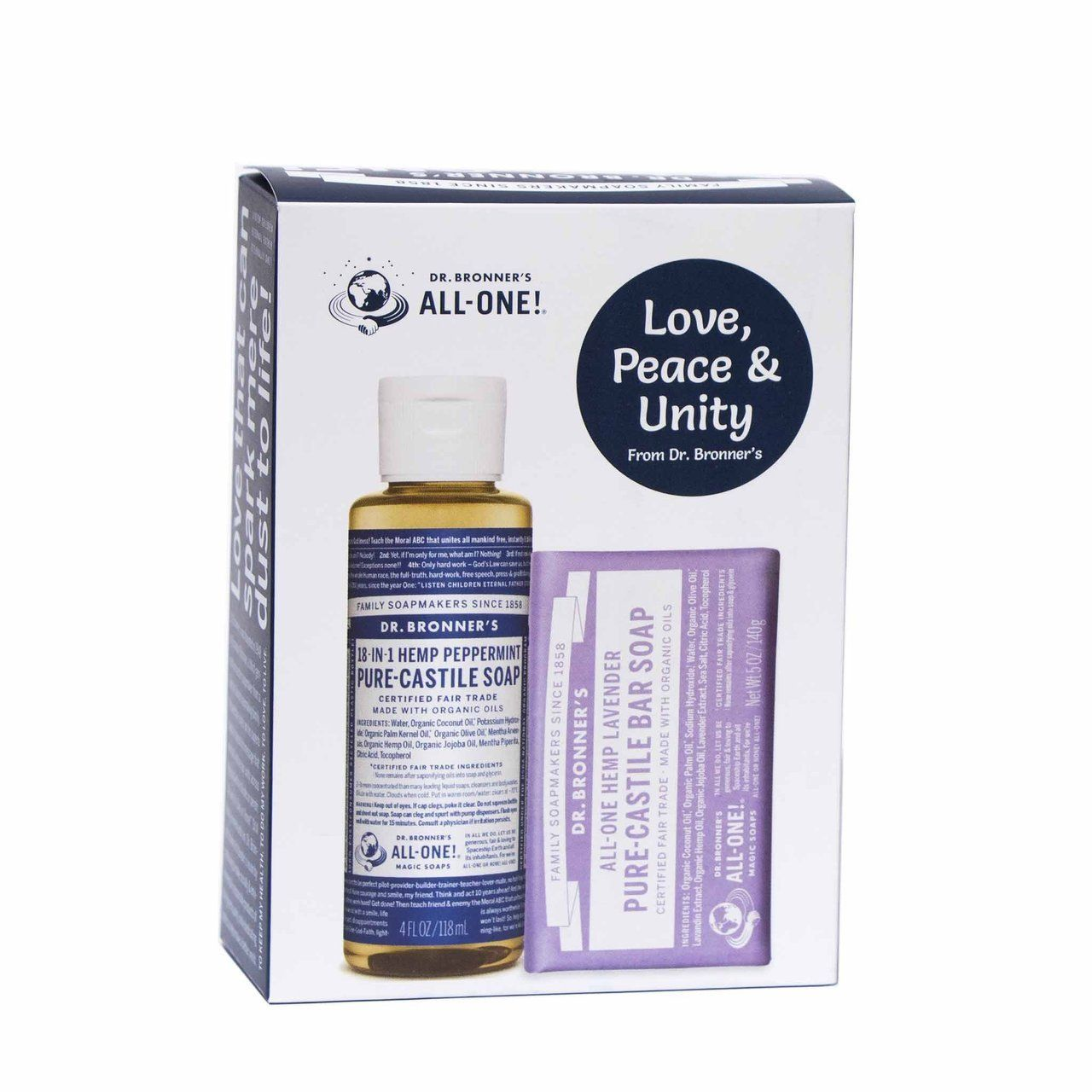 Dr Bronner Peppermint Lavender Gift Pack Pure Products Tea