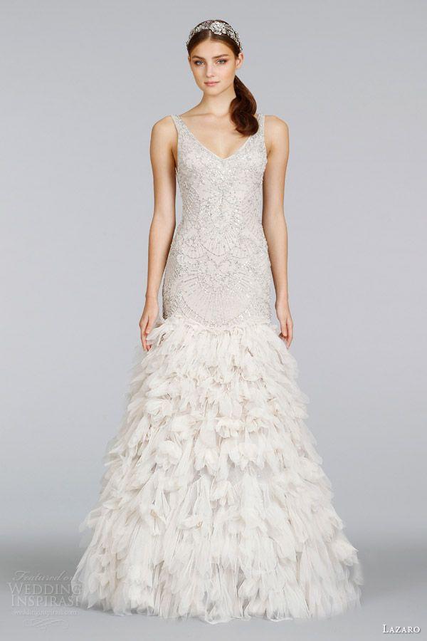 Wedding Lazaro Bridal Spring 2014 Champagne