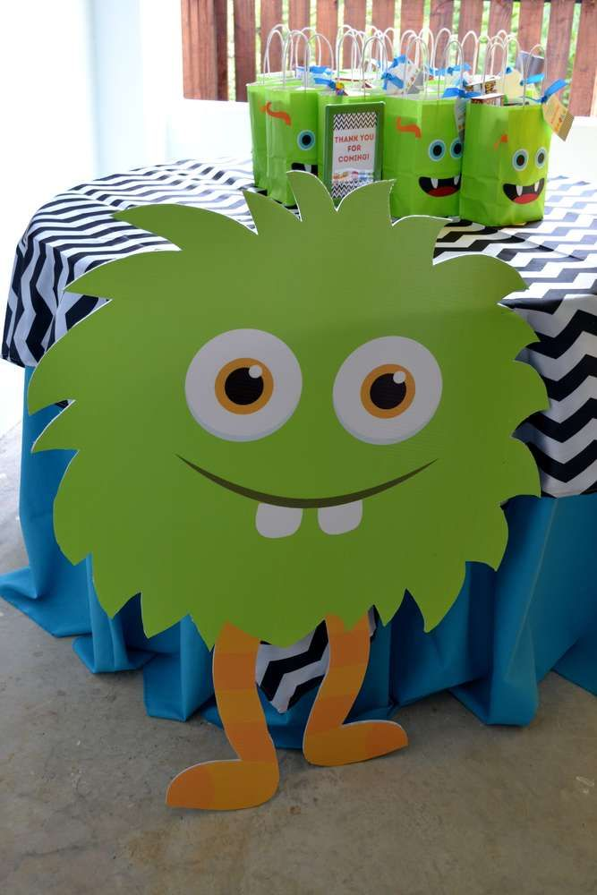 Monsters Birthday Party Ideas Photo 8 Of 32 Monster 1st Birthdays Monster Birthday Monster Birthday Parties