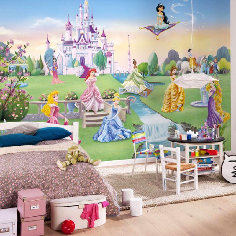 Poster Extra Large LE CHATEAU DE PRINCESSE DISNEY X Cm - Disney princesse chambre idees de decoration