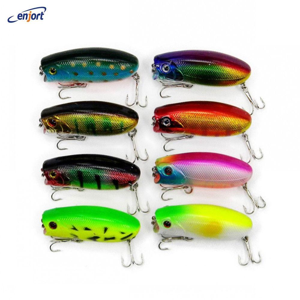 5PCS//Lot 6cm//5g Fishing Hard Bait Top Water Popper Lure Bass Crankbait Wobbler