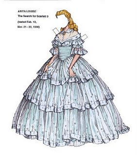 008 Scarlett Reverie Gone with the Wind Paper Dolls of Maria
