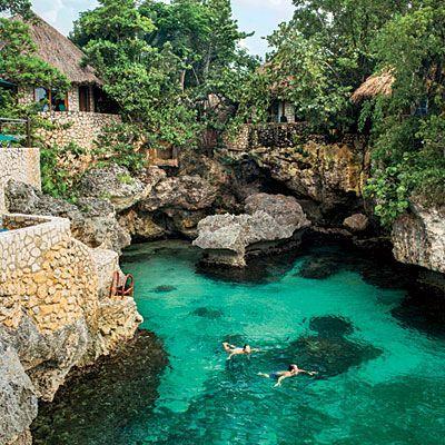 Negril, Jamaica - Caribbean Getaways - Southern Living Rockhouse Cottages Plan the perfect #Jamaican #Getaway at #LunaSeaInn www.lunaseainn.com