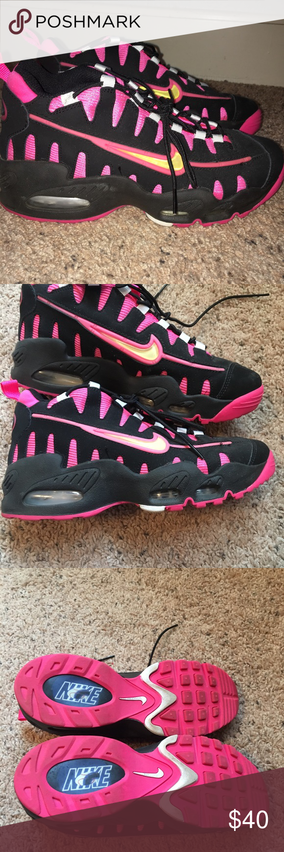 c6f6d1564760 Nike Ken Griffey Jr Shoes Nike Ken Griffey Jr Shoes black and pink. Only  worn once. Boys size 7 so women s 8.5 Nike Shoes Athletic Shoes