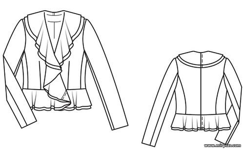 free pattern, жакет, pattern sewing, выкройки скачать, жакет с ...