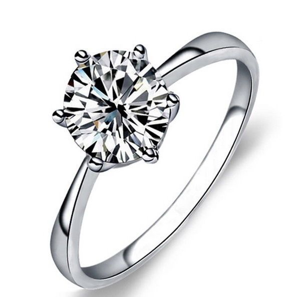 Solid 925 Sterling Silver Women Fashion Wedding Engagement Ring R46