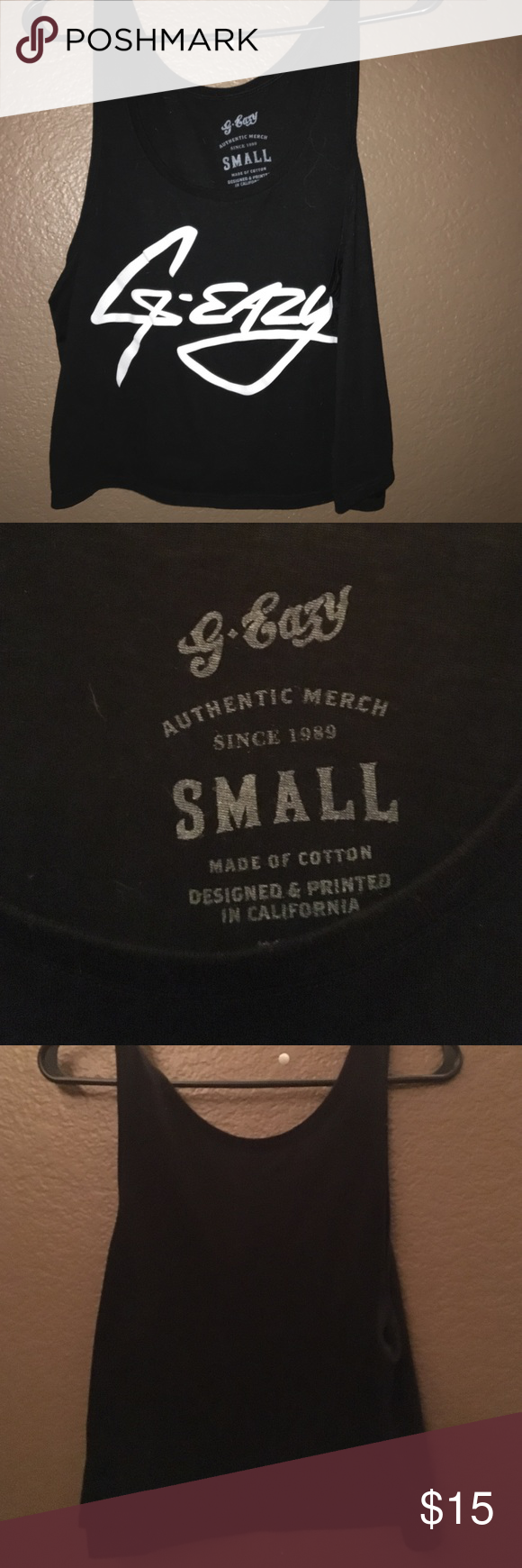 107337969347 G-Eazy Black Crop Top Authentic merch from g-eazy store. Never worn. 100%  cotton. G-Eazy Merch Tops Crop Tops