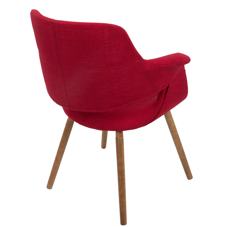 Red Mid Century Modern Accent Chair Vintage Flair Modern