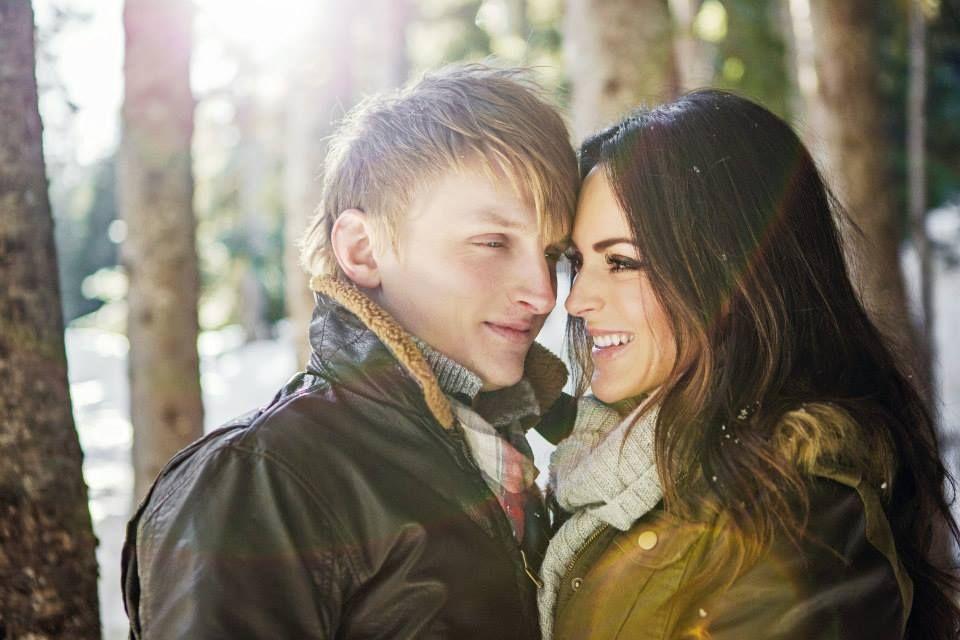 Winter Family Photos Couple Husband Wife Romantic Romance Snow
