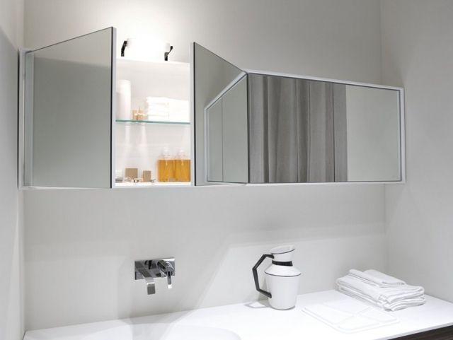 Meuble salle de bains idées magnifiques miroir original Armoires
