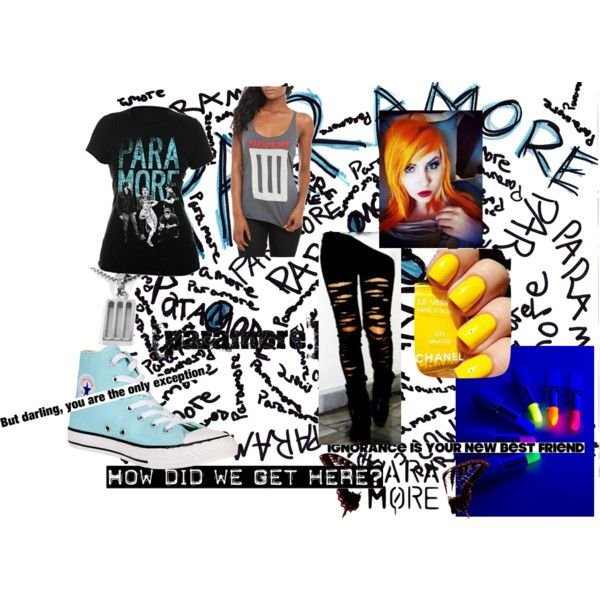 Paramore Fan! by sapphire1011 (me) on Polyvore featuring Converse
