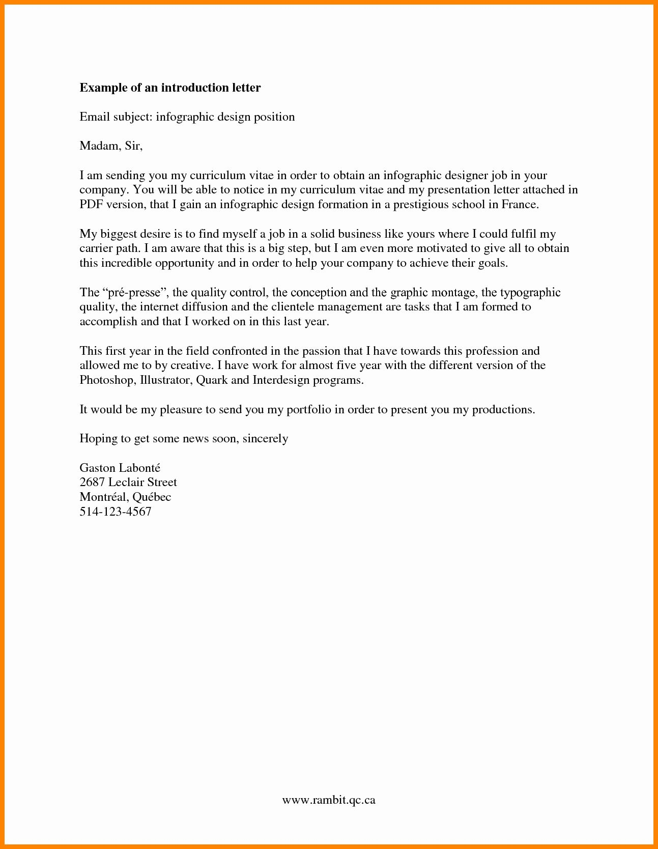 Letter Of Introduction Example Best Of 5 Pany Introduction Format Introduction Letter For Job Introduction Letter Lettering