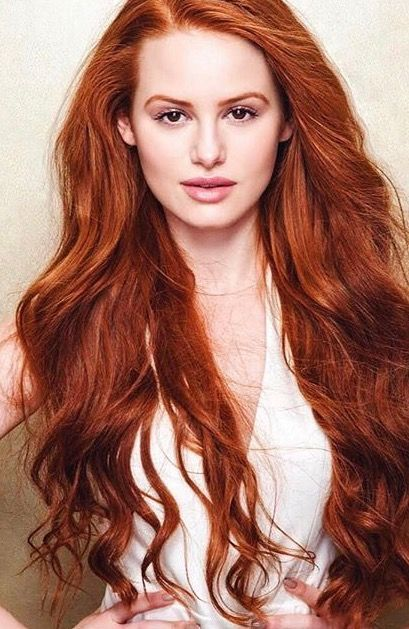 Bildergebnis F 252 R Madelaine Petsch Natural Hair Color Red